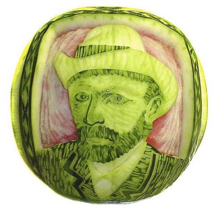 Watermelon carvings The Solucar solar power plant in Sanlucar la Mayor(14 pics)