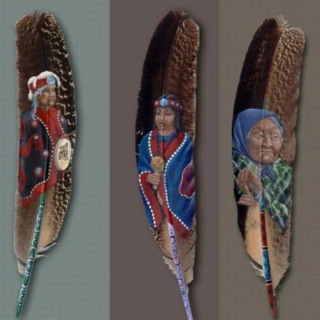 Painting on feathers (10 pics)