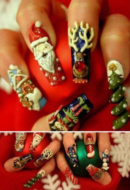 Finger nail art (11 pics)