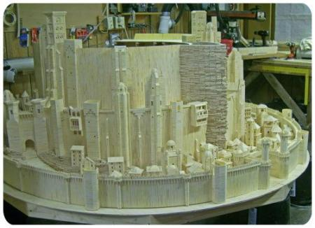 The castle of the Lord of the Rings with matchsticks (9 pics)
