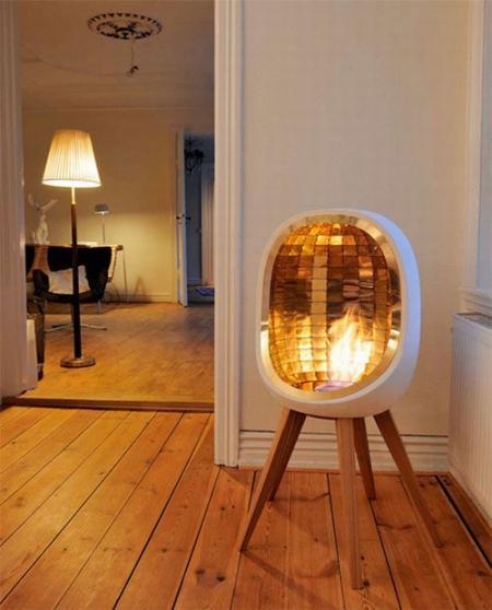 Portable house firepit (6 pics)