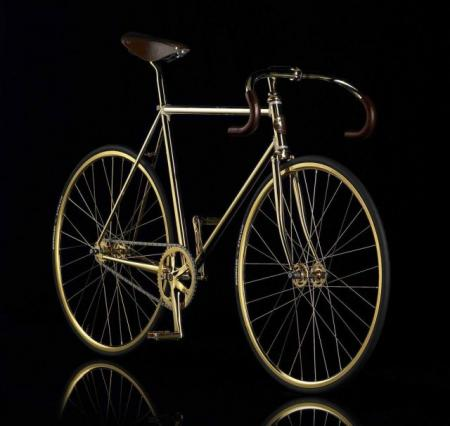 Golden bicycle (12 pics)