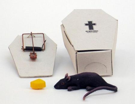 A mousetrap in form of a coffin (4 pics)